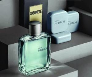 Perfume Natura Homem colônia 100 ml com Sabonete em Barra Caixa.