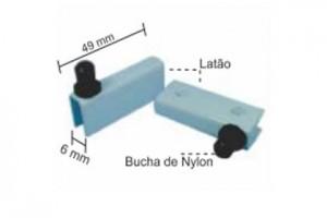 1141 - Dobradiças pivotante para porta de rack vidro 6mm