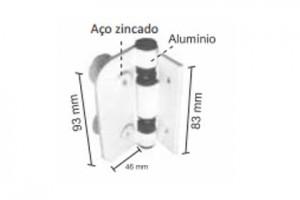 1755 - Dobradiça automática madeira/alvenaria/vidro
